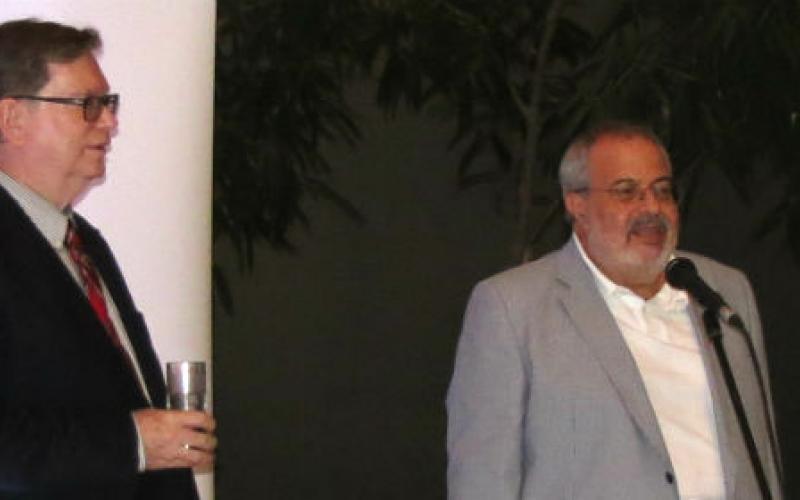 Malta Enterprise executive chairman Mario Vella introducing Professor Smoot
